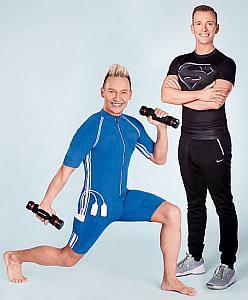 Sascha Lauterbach und Sebastian Aderhold bieten EMS-Training in den eigenen vier Wänden. Foto: Vip Training Concept